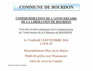 Commémoration libération de bourdon