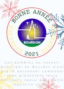 Carte de Voeux 2021 Ville de Bourdon